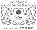 rustic decorative curls  swirls ... | Shutterstock .eps vector #279275900
