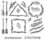 rustic decorative elements with ... | Shutterstock .eps vector #279275948