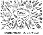 rustic decorative plants and... | Shutterstock .eps vector #279275960
