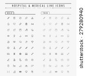 hospital and medical line icons ... | Shutterstock .eps vector #279280940