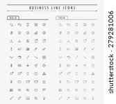 business minimal line icons on... | Shutterstock .eps vector #279281006