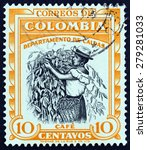 colombia   circa 1956  a stamp... | Shutterstock . vector #279281033