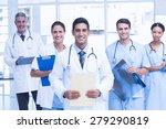 portrait of confident doctors... | Shutterstock . vector #279290819