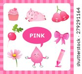 learn the color pink   things... | Shutterstock .eps vector #279291164