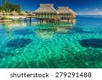 villas in the lagoon with steps ... | Shutterstock . vector #279291488