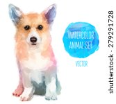 Vector Set Of Animals. Dog Han...