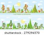 flat vector tree illustration ... | Shutterstock .eps vector #279296570