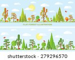 Flat Vector Tree Illustration ...