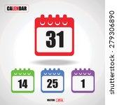 set of calendar flat design...