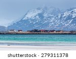 ramberg beach  lofoten islands  ... | Shutterstock . vector #279311378