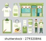 vector restaurant cafe set shop ... | Shutterstock .eps vector #279320846