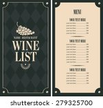 wine list with a bunch of grapes | Shutterstock .eps vector #279325700