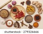 ingredients of rajasthani... | Shutterstock . vector #279326666