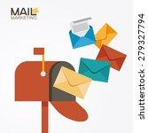 e mail concept . marketing e... | Shutterstock .eps vector #279327794
