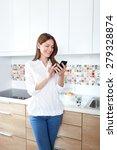 young beautiful woman using... | Shutterstock . vector #279328874