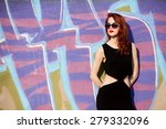 beautiful redhead women in... | Shutterstock . vector #279332096