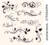 set of calligraphic floral...   Shutterstock .eps vector #279334394