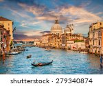 Beautiful View Traditional Gondola Famous - Fine Art prints