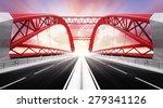 empty two direction highway... | Shutterstock . vector #279341126