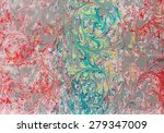 sateen scarfs with a pattern... | Shutterstock . vector #279347009