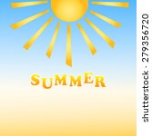 summer  background with the sun ... | Shutterstock .eps vector #279356720