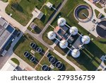 aerial view of sewage treatment ... | Shutterstock . vector #279356759