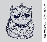 it is sad cute cartoon monsters.... | Shutterstock .eps vector #279358469