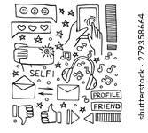 social media icons vector set....   Shutterstock .eps vector #279358664