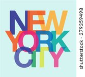 typography design of new york... | Shutterstock .eps vector #279359498