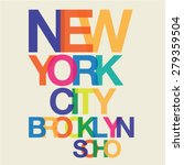 typography design of new york... | Shutterstock .eps vector #279359504