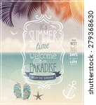 summer time poster   vintage... | Shutterstock .eps vector #279368630