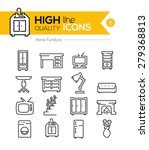 high quality home furniture... | Shutterstock .eps vector #279368813