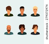 set of cartoon good looking men ... | Shutterstock .eps vector #279372974