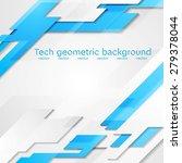 blue grey hi tech geometric...   Shutterstock .eps vector #279378044