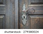 Old Wooden Entrance Door With...