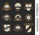 set of monochrome hipster... | Shutterstock .eps vector #279388679