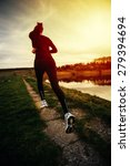 young woman athlete running in... | Shutterstock . vector #279394694