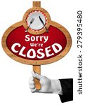 sorry we are closed    sign... | Shutterstock . vector #279395480
