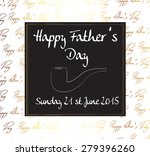 fathers day card. vector... | Shutterstock .eps vector #279396260