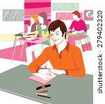 happy children group in school... | Shutterstock .eps vector #279402320