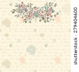 retro letter background with...   Shutterstock .eps vector #279404600