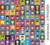 collection of avatars16   81... | Shutterstock .eps vector #279416504