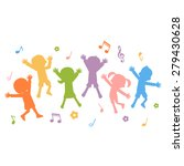 group of hand drawn children... | Shutterstock .eps vector #279430628