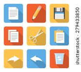 flat file operation icons with...