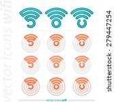 collection of wifi connection... | Shutterstock .eps vector #279447254