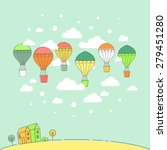 vector illustration of an air... | Shutterstock .eps vector #279451280