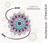indian festival raksha bandhan... | Shutterstock .eps vector #279461819