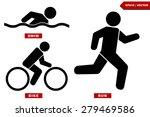 Triathlon Marathon Active Icons ...