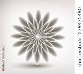 abstract flower in grey color.... | Shutterstock .eps vector #279475490