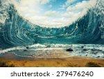 Surreal Image Of Huge Waves...